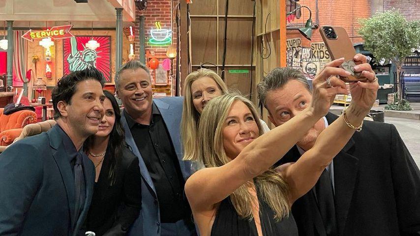 David Schwimmer, Courteney Cox, Matt LeBlanc, Lisa Kudrow, Jennifer Aniston und Matthew Perry