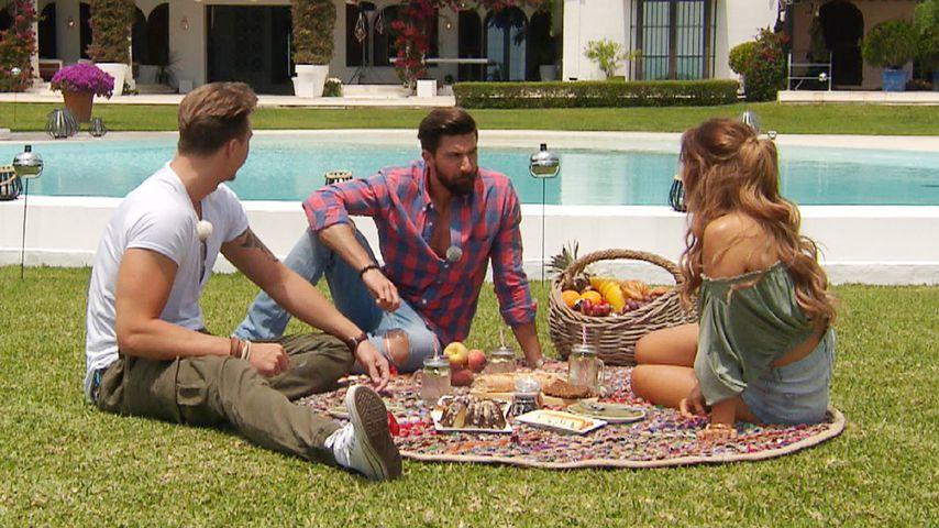 "David, Sebastian und Jessica bei ""Die Bachelorette"", Folge 5"