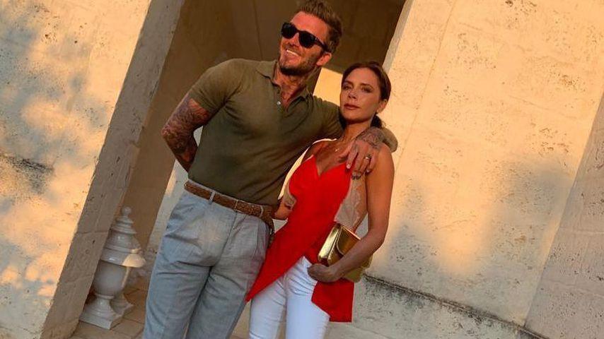 """Nettes Paket"": David Beckhams Hose gibt guten Einblick"