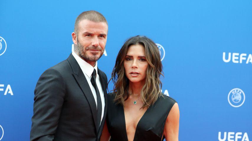 David und Victoria Beckham, August 2018