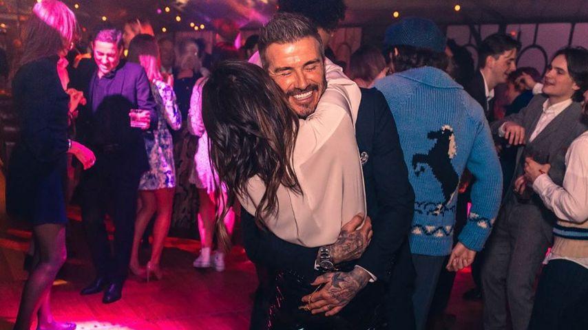 David und Victoria Beckham auf der Geburtstagsparty ihres Sohnes im März 2020