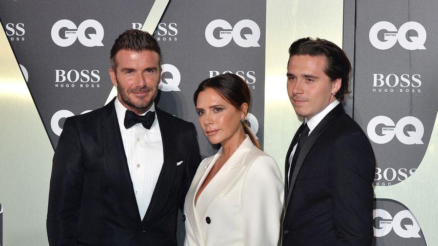 David, Victoria und Brooklyn Beckham im September 2019