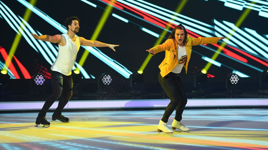 "David Vincour und Nadine Angerer in der dritten ""Dancing on Ice""-Show"