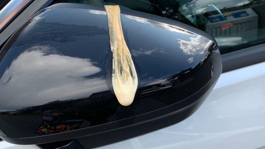 Davin Herbrüggens beschmutztes Auto