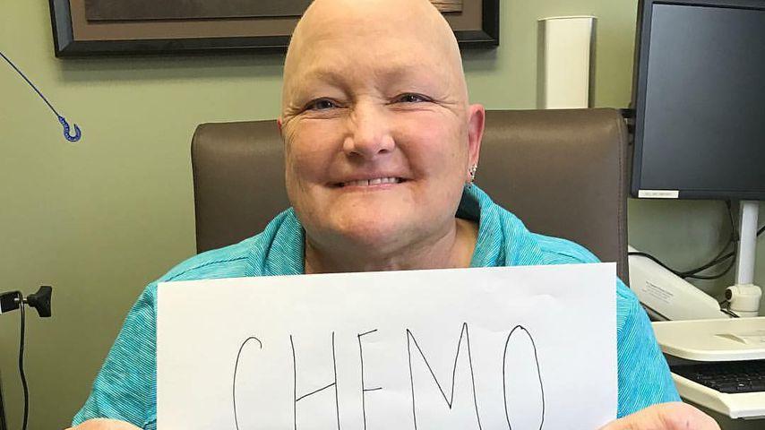 Debbie Rowe nach ihrer letzten Chemotherapie im Januar 2017