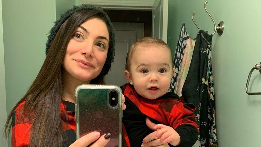 Deena Cortese mit ihrem Sohn CJ
