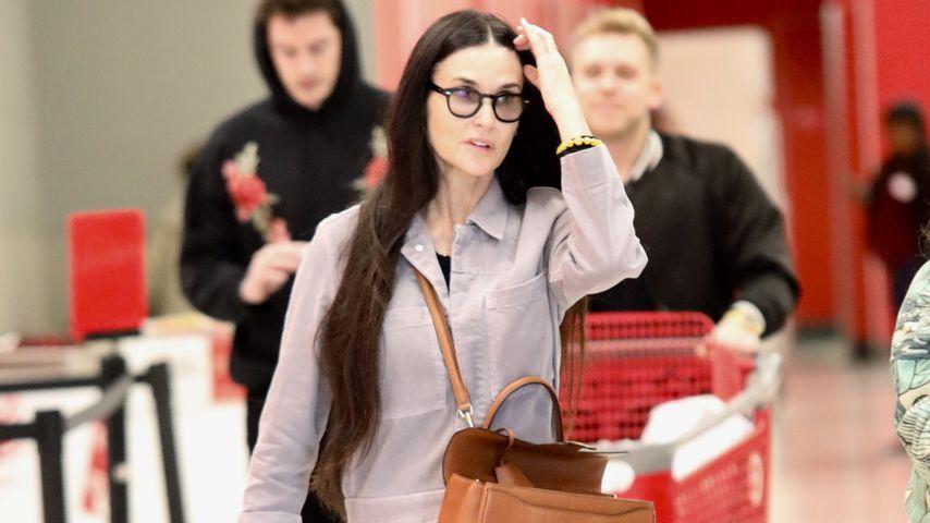 Richtiger Normalo: Demi Moore geht im Discounter shoppen