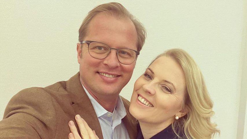 Denis Sawinkin mit Ehefrau Patricia Kelly im Oktober 2020