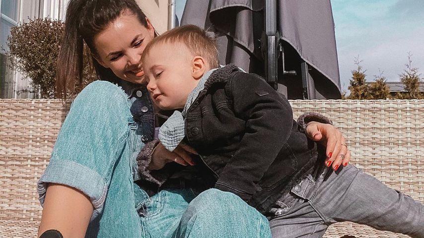 Denise Kappès mit ihrem Sohn Ben