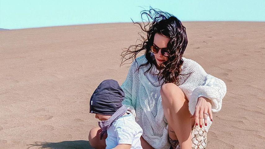 Denise Kappès und ihr Sohn Ben-Matteo im Urlaub, Januar 2020