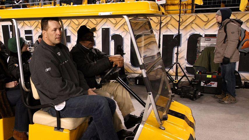 Dennis Byrd beim Spiel der AFC Championships: New York Jets vs. Pittsburgh Steelers