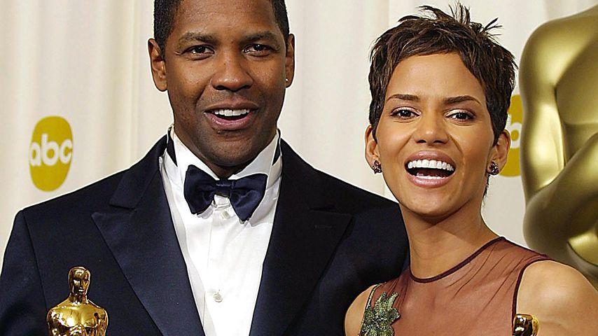 Denzel Washington und Halle Berry bei den Oscars 2002
