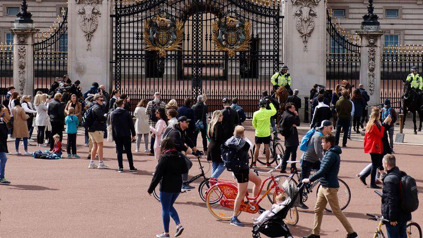 Der Buckingham Palace am 9. April 2021