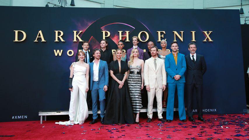 """Der Cast auf der Filmpremiere von """"Dark Phoenix"""" in Hollywood im Juni 2019"""