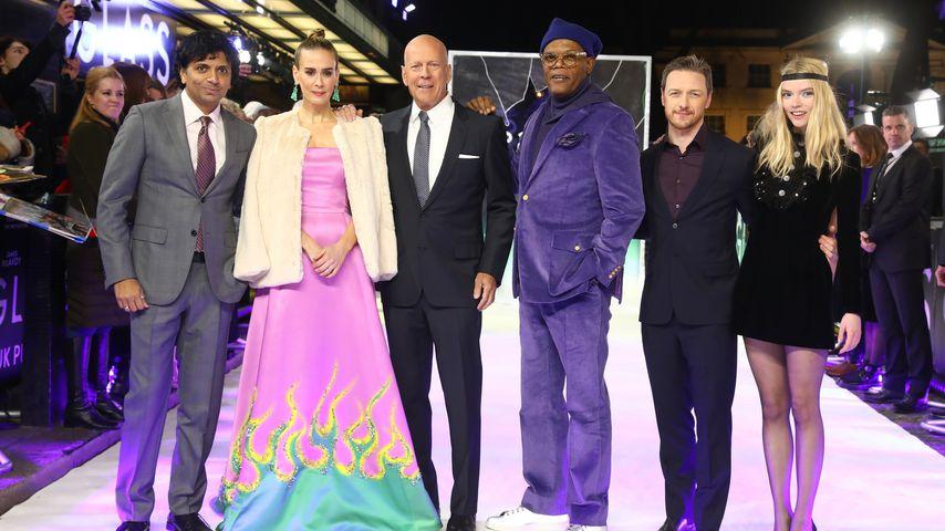 """Der Cast von """"Glass"""" bei der Film-Premiere in London"""