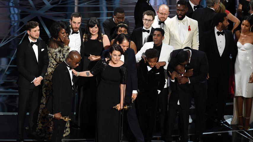 """Der Cast von """"Moonlight"""" bei der Oscar-Verleihung in Hollywood 2017"""