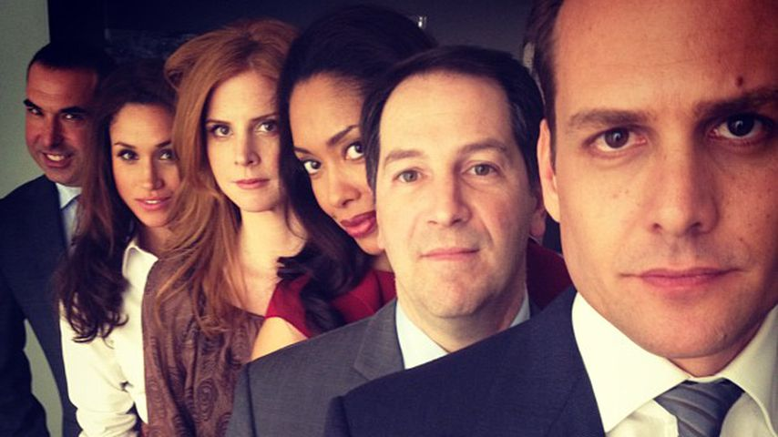 "Der Cast von ""Suits"" am Set"