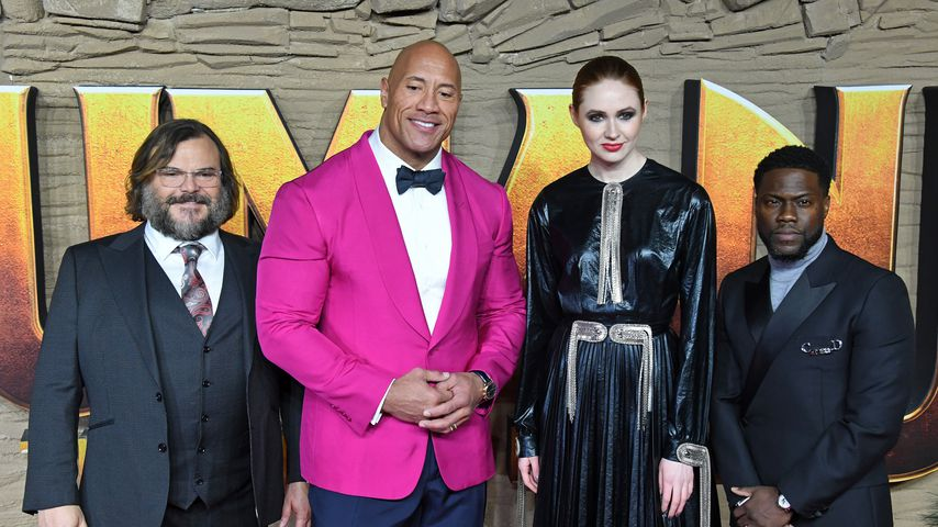 Jack Black, Dwayne Johnson, Karen Gillan und Kevin Hart in London