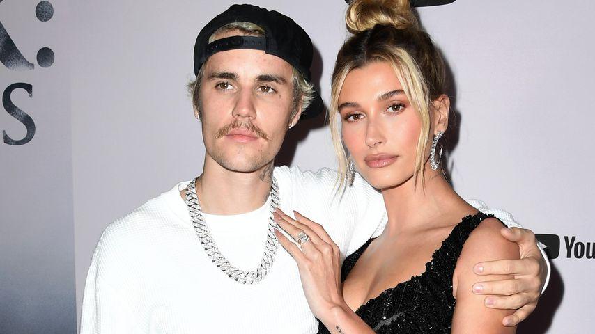Der Sänger Justin Bieber mit seiner Frau Hailey