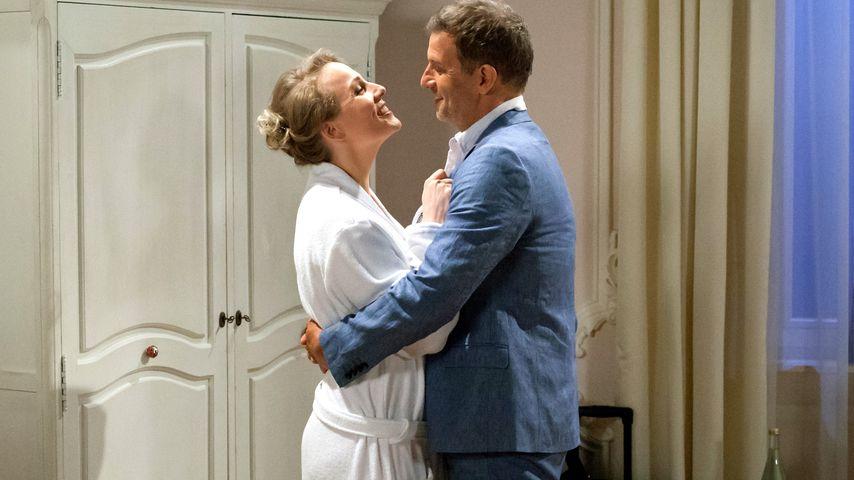 """Desirée (Louisa von Spies) und Nils (Florian Stadler) in """"Sturm der Liebe"""""""