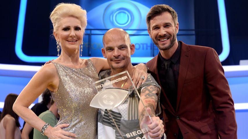 """Desiree Nick, Ben Tewaag und Jochen Schropp in der Finalshow von """"Promi Big Brother"""""""