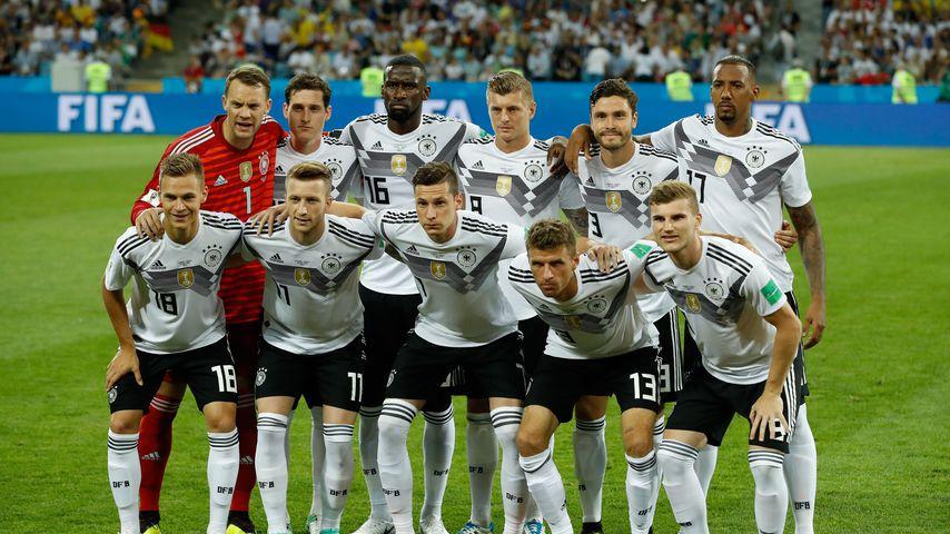 Deutsche Fußballnationalmannschaft vor dem WM-Spiel gegen Schweden