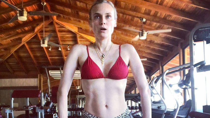 Vier Monate nach Geburt: Diane Kruger mega durchtrainiert