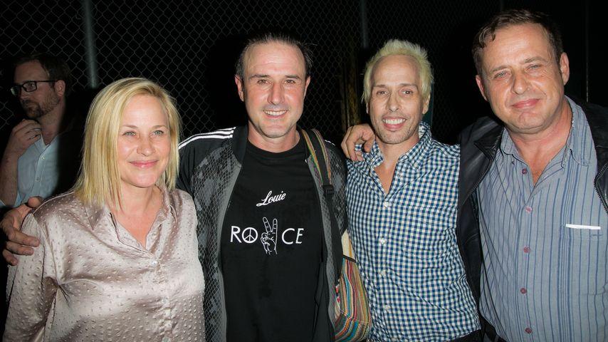 Patricia Arquette, David Arquette, Alexis Arquette, Richmond Arquette bei einer Party