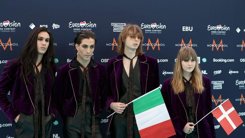 Die Band Måneskin beim Eurovision Song Contest 2021