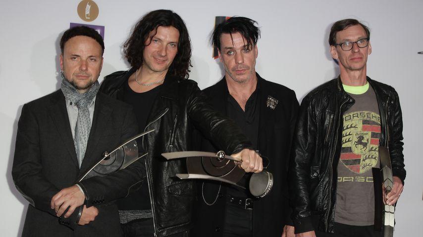 Die Band Rammstein im März 2011 in Berlin