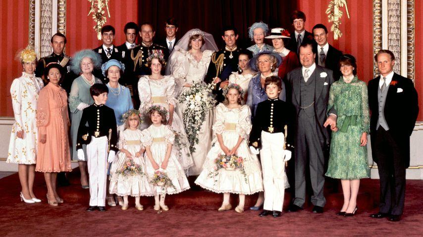Die britische Royal-Familie im Jahr 1981