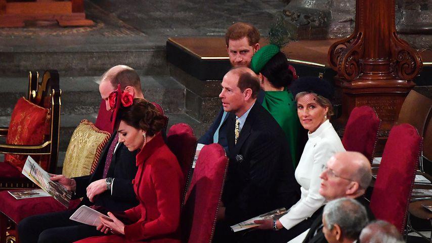 Die britischen Royals bei einem Gottesdienst in Westminster Abbey