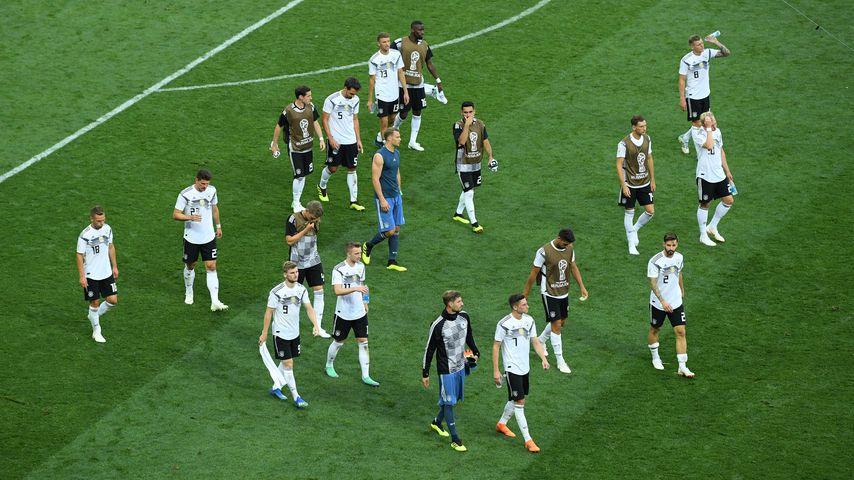 Die deutsche Nationalmannschaft nach ihrem WM-Auftaktspiel gegen Mexiko 2018