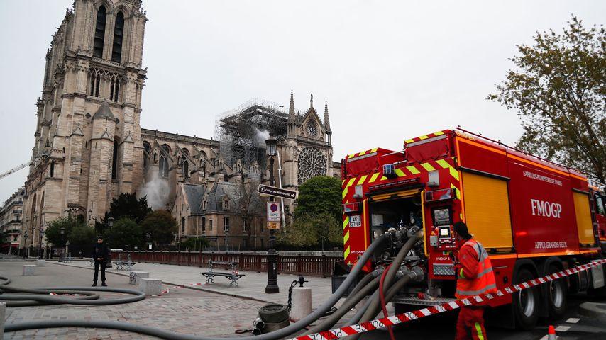 Notre Dame am Morgen nach dem Brand