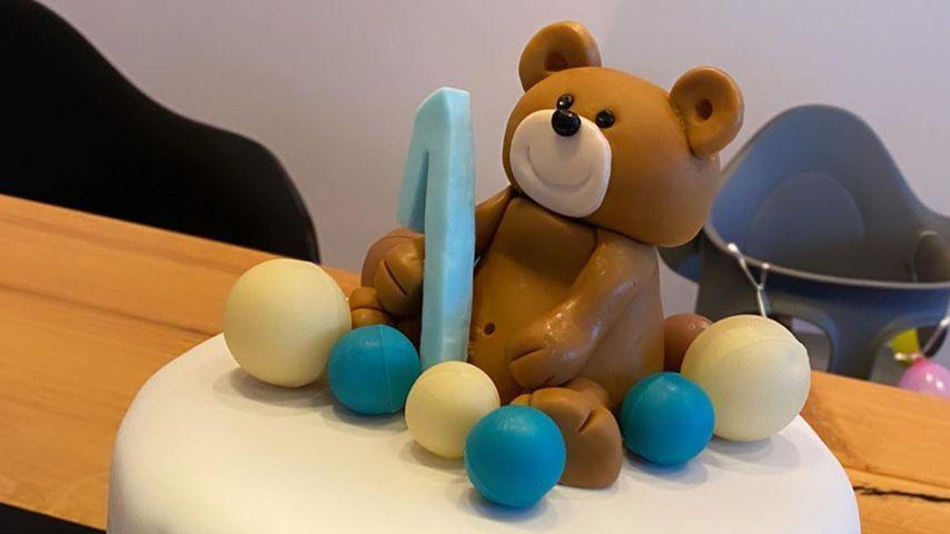 Die Torte zum 1. Geburtstag von Amira und Oliver Pochers Sohn
