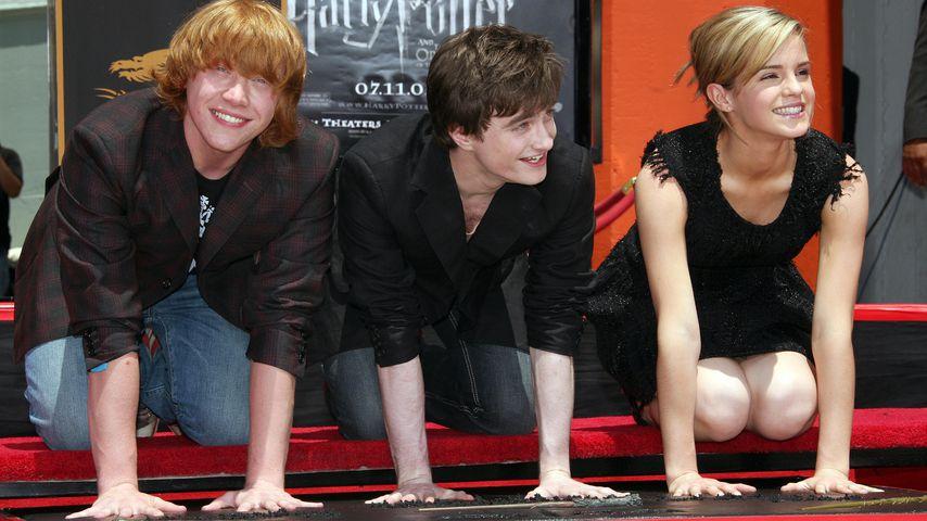 """Die """"Harry Potter""""-Darsteller Rupert Grint, Daniel Radcliffe und Emma Watson"""