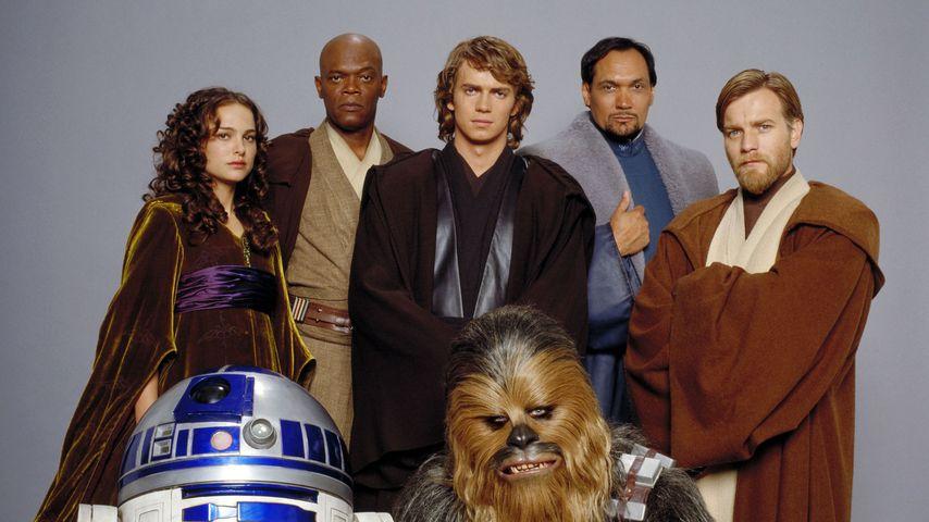 """Die Hauptdarsteller aus """"Star Wars: Episode III – Die Rache der Sith"""", 2005"""