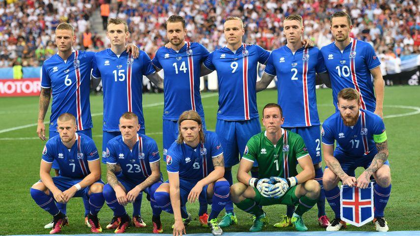 Die isländische Nationalmannschaft in Frankreich