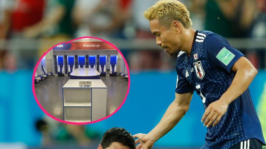 Statt Wutausbruch: Japaner putzen Kabine kurz nach WM-Exit