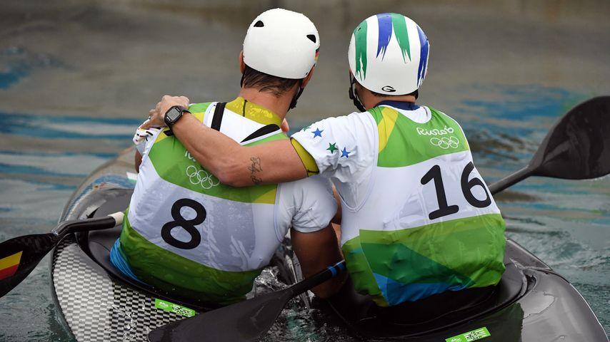 Die Kanuten Hannes Aigner und Pedro Da Silva bei Olympia 2016