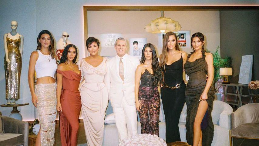 """Die Kardashians bei der """"Keeping up with the Kardashians""""-Reunion mit Andy Cohen"""