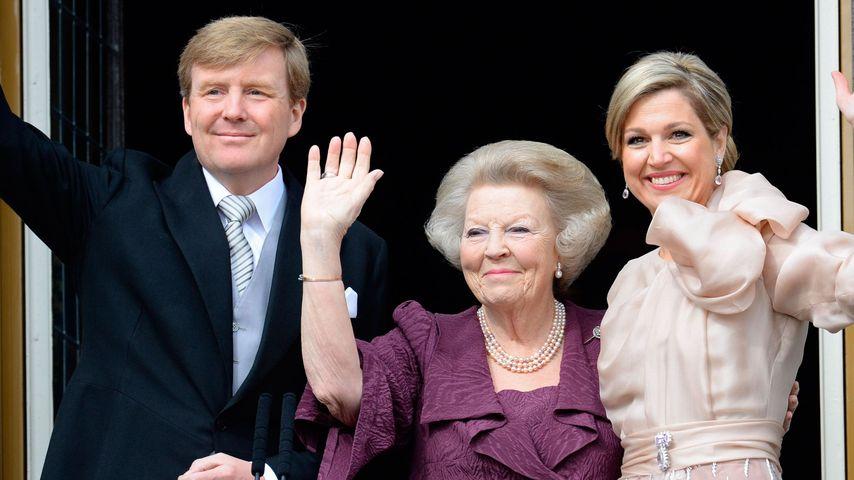 Beatrix dankt ab: Hier strahlt das neue Königspaar