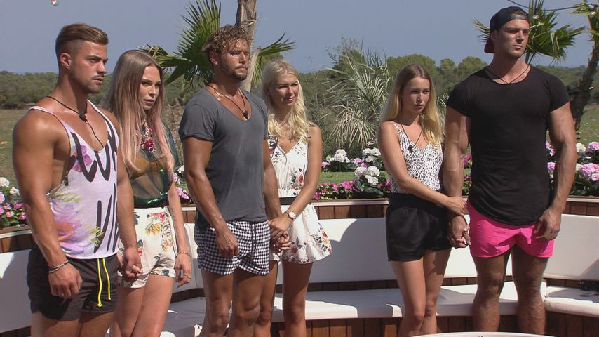 "Die ""Love Island""-Kandidaten Tobias, Natascha, Yanik, Lisa, Jessica und Sebastian"
