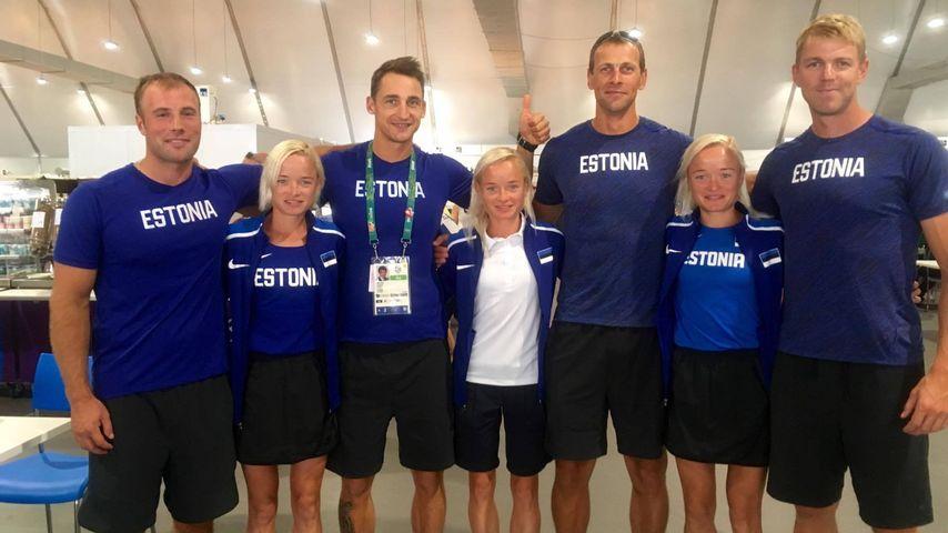 Luik-Drillinge mit dem estnischen Ruderteam