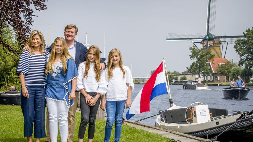 Die niederländische Königsfamilie: Maxima, Amalia, Willem-Alexander, Alexia und Ariane
