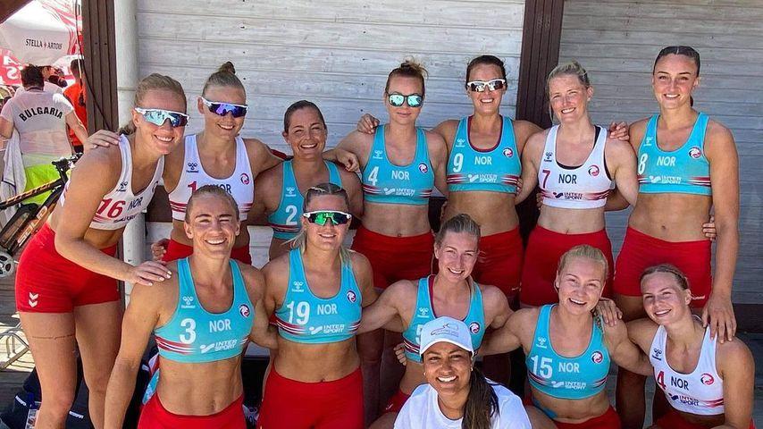 Die norwegische Beachhandball-Mannschaft