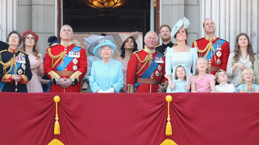 Die royale Familie beim Trooping The Colour 2018