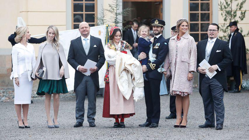 Die schwedischen Royals bei der Taufe von Prinz Gabriel