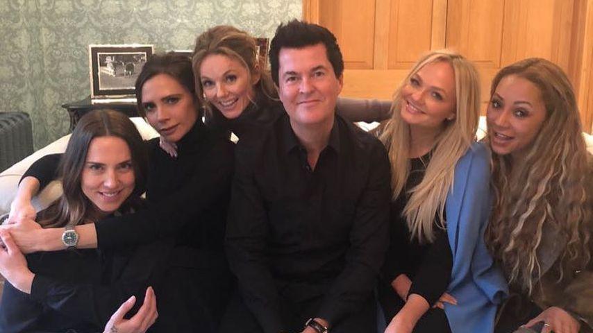 Die Spice Girls mit Simon Fuller