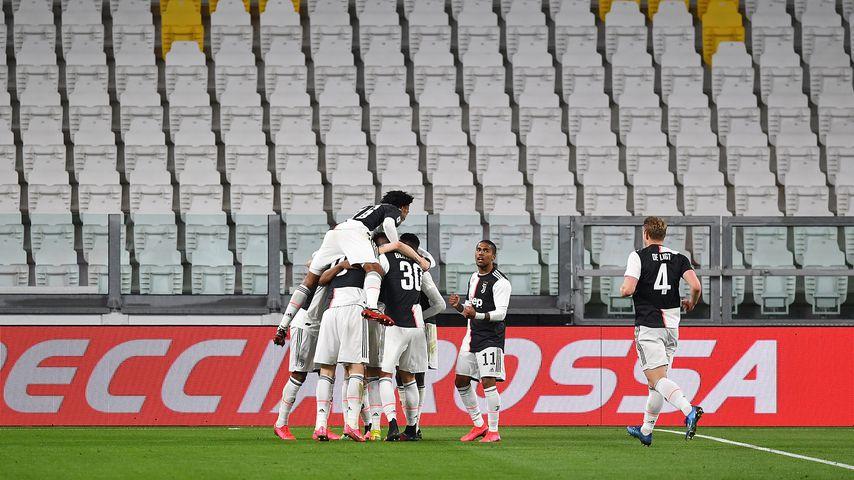 Die Spieler von Juventus Turin